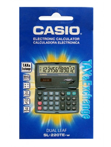 Casio Pocket Calculator SL-220TE-W