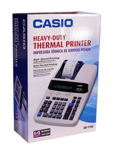 Casio Heavy-Duty Thermal Printing Calculator DR-T140