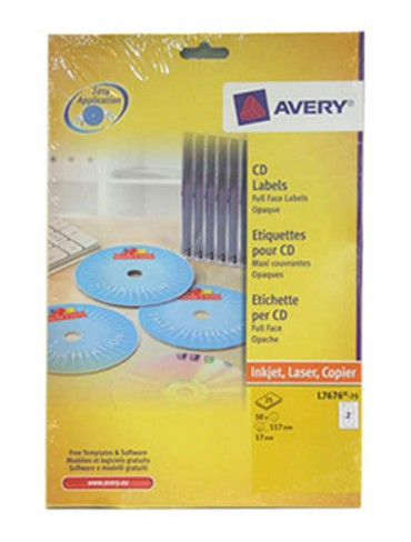 Avery CD Label L7676-25