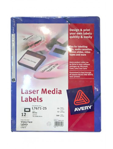 Avery Laser Media Label L7671-25