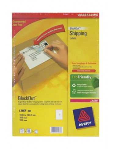 Avery Shipping Label L7167-100