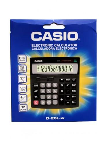 Casio Desktop Calculator D-20L-w