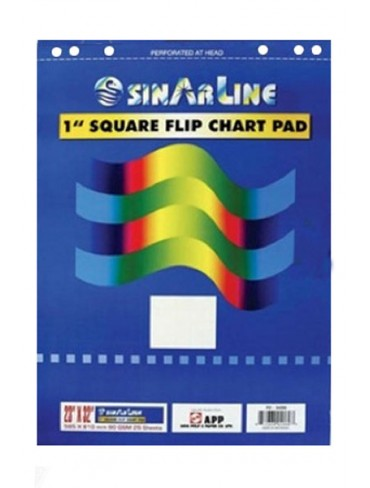 Sinarline Flip Chart Pad 25A1 25 Sheets