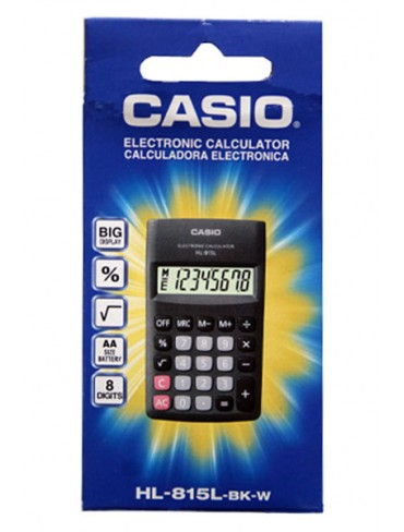 Casio Pocket Calculator HL-815L-BK-W