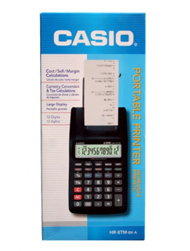 Casio Portable Printer Calculator HR-8TM-BK-A
