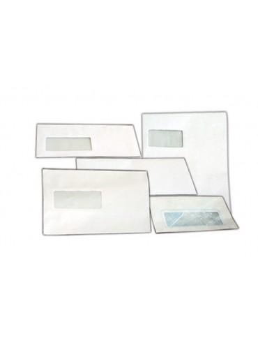 Hispapel White Window Plain Envelope
