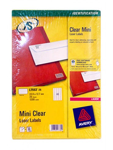 Avery Clear Mini Label L7553-2
