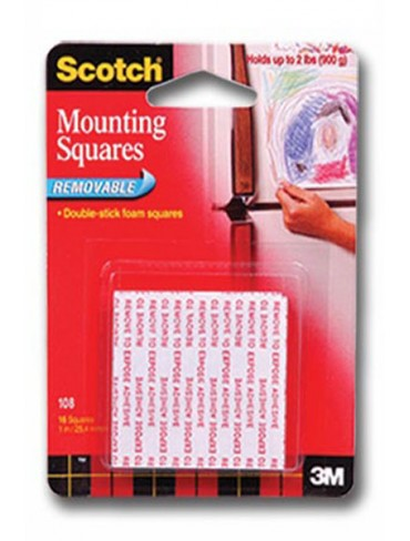 3M Scotch Mounting Squares Tape 108