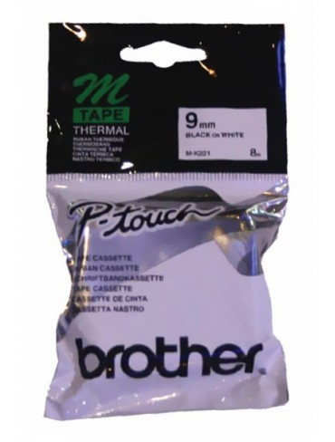 Brother Tape M-K231 Black on White 9mm