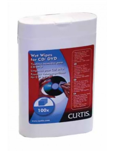 Curtis Wet Wipes for CD/DVD 100 Wipes