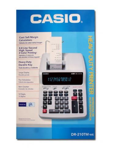 Casio Heavy-Duty Printer Calculator DR-210TM-WE