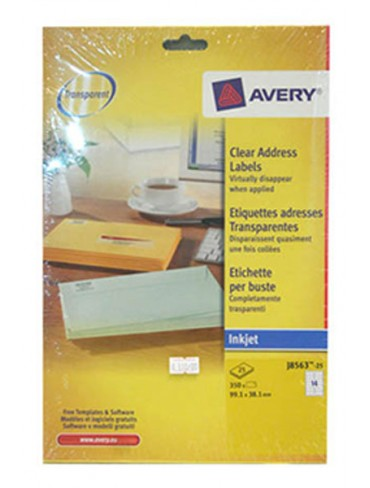 Avery Clear Address Label J8563-25