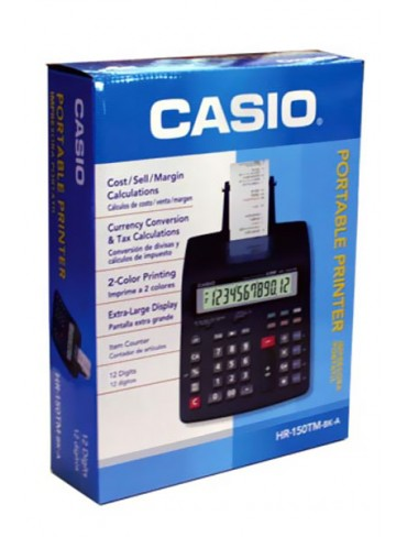 Casio Portable Printer Calculator HR-150TM-BK-A