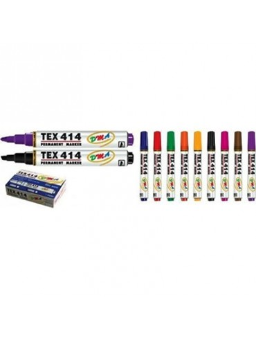 Tex 414 Permanent Marker  (Pack of 12) - Broad, Black